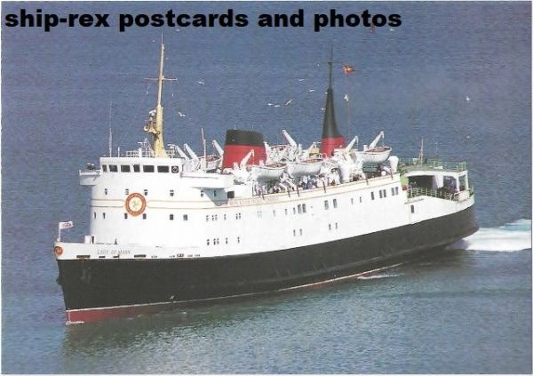 LADY OF MANN (Isle Of Man Steam Packet, 1976), postcard